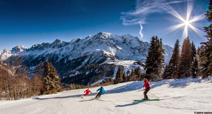 Les Houches is a great ski area for beginners